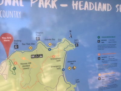 ヌーサ国立公園のトレッキング