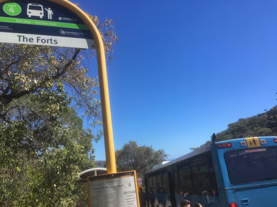 Forts Walkのバス停