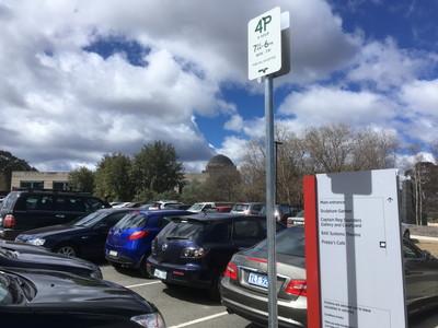 オーストラリア戦争記念館の駐車場