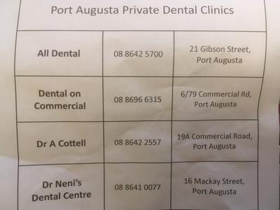 ポートオーガスタの歯医者