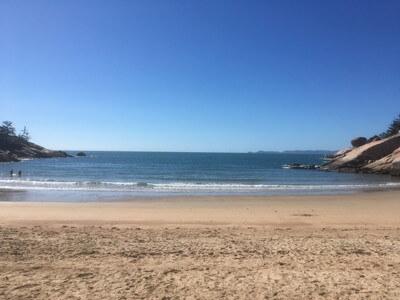 Alma Bayのビーチ