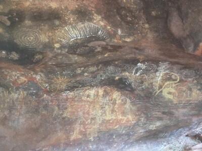エアーズロックの壁画