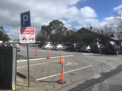 バロッサバレーの無料駐車場