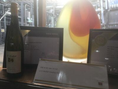 金賞を受賞した白ワイン