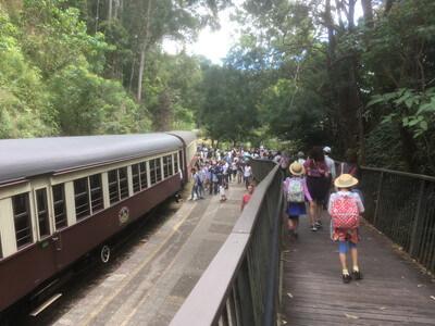 キュランダ鉄道の電車