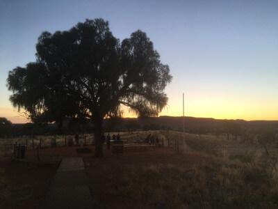 キングスキャニオンリゾートで見た日の出