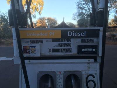 キングスキャニオンリゾートのガソリンスタンド