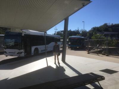 マグネティック島のバスターミナル