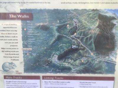 バロンゴージ国立公園のトレッキングコース