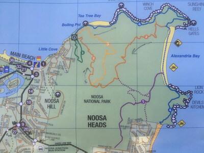 ヌーサ国立公園のトレッキングルート