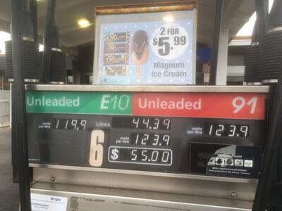 ポートオーガスタのガソリンスタンド