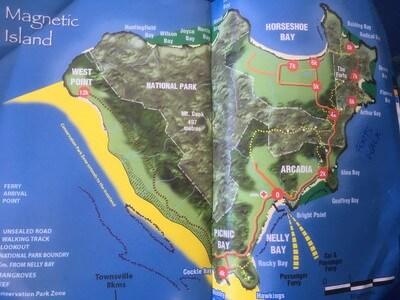 マグネティック島の地図