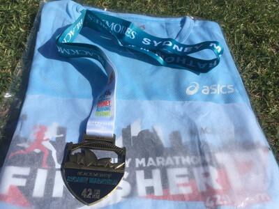 シドニーマラソンの記念メダル