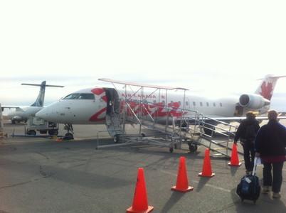 カルガリー行きの飛行機