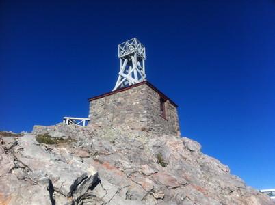 サルファー山の頂上
