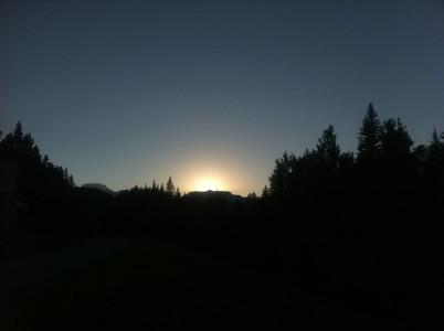 バンフの夕日
