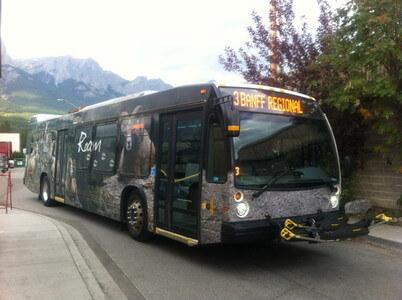 キャンモア行きのバス