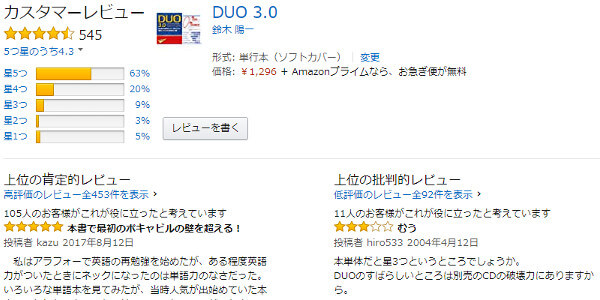 DUO3.0の評判