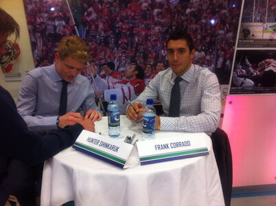NHL選手のサイン会