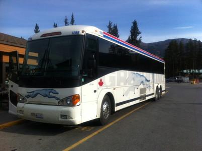 レイクルイーズ行きのバス