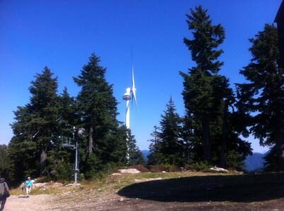 グラウス山の風車