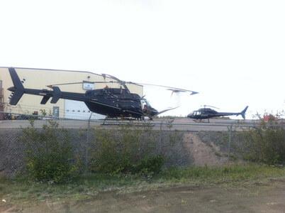 イエローナイフの空港