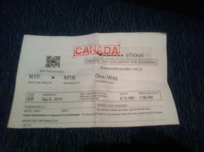 アムトラックの切符