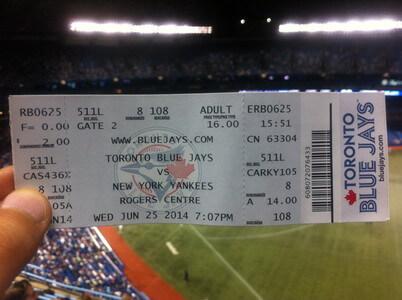 トロントブルージェイズ対 ニューヨークヤンキース