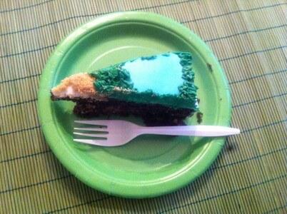 ゴルフコースの手作りケーキ