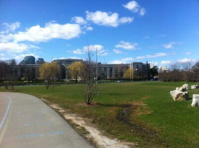 ハーバーフロントの公園