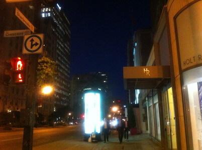 モントリオールのde la Motague通り