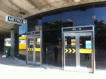 モントリオールのPie-IX駅