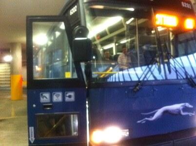 グレイハウンドのバス