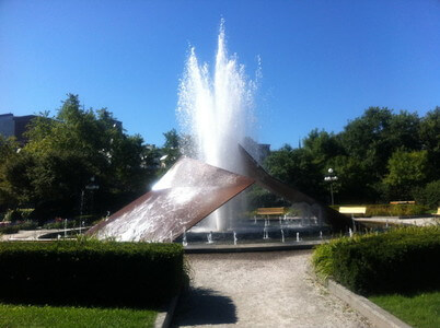 ケベックの噴水広場
