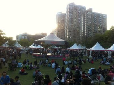 ハーバーフロントの台湾フェスティバル