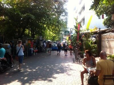 バンコクのランブトリ通り