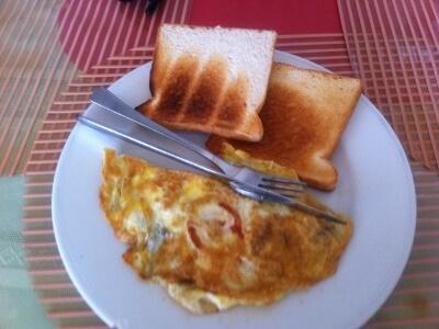 ボラカイ島の朝食