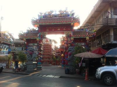 チェンマイのチャルン・プラテート通り