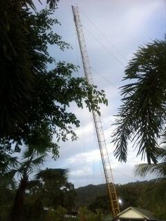 パトンビーチのバンジージャンプ