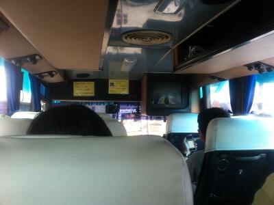 バンコクからパタヤ―までバスで移動