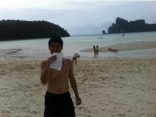 ピピ島のビーチ