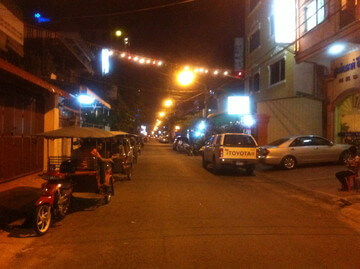 カンボジアのプノンペンの夜