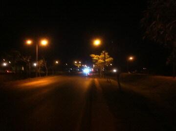 シェムリアップ郊外の夜