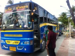 プーケットタウン行きのバス