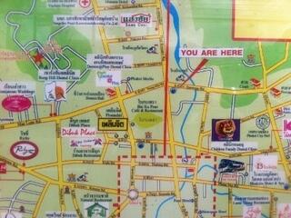 プーケットタウンの地図