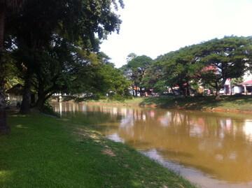 カンボジアのシェムリアップ川