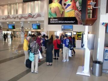南アフリカのブルームフォンテーン空港