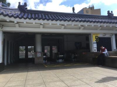 台北の中正記念堂駅