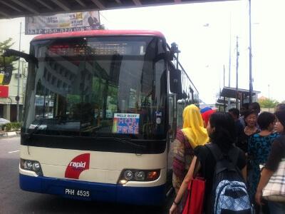ジョージタウンの無料バス