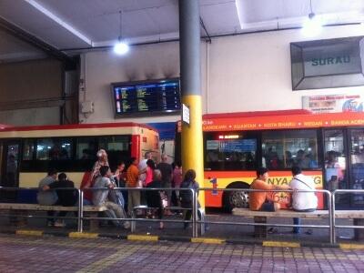 ジョージタウンの有料バス